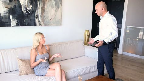 Sophia Lux nanny caught masturbating then fucked by her boss